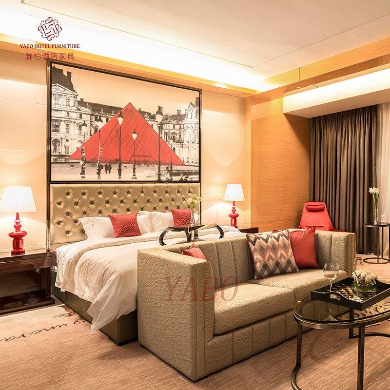 Hotel bedroom furniture apply in Guangzhou Sofitel Hotel YB-810