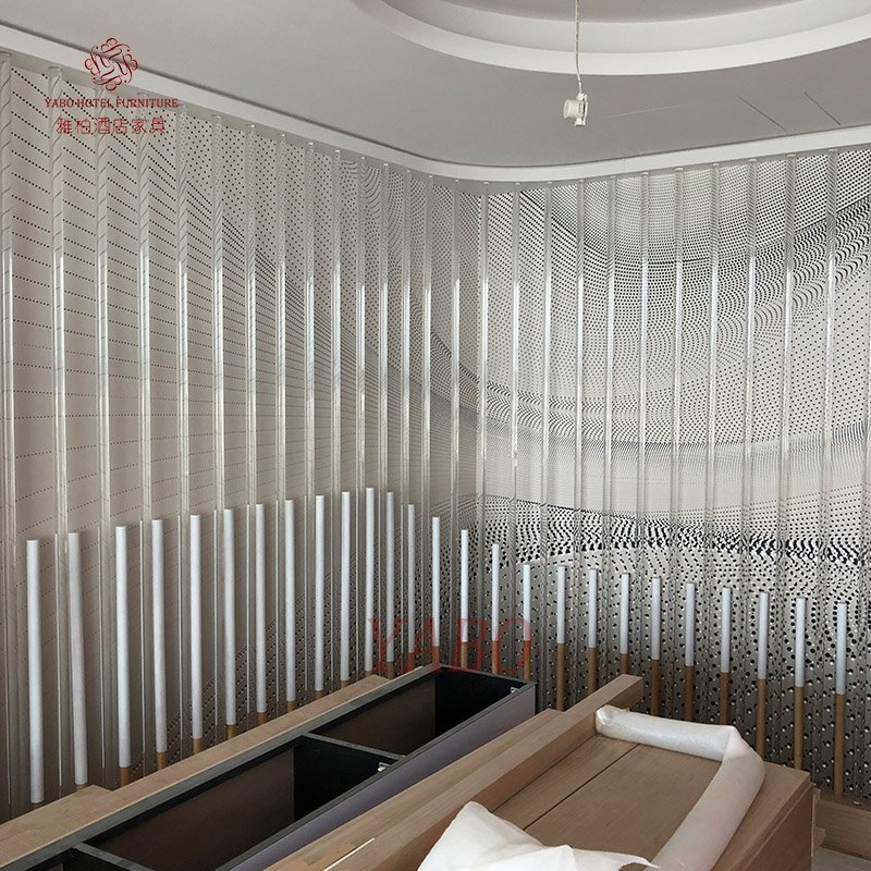 Wood fixing partition for hotel bedroom-YB-209