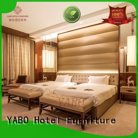 warm hotel bedroom furniture wholesale custommade for hotel YABO