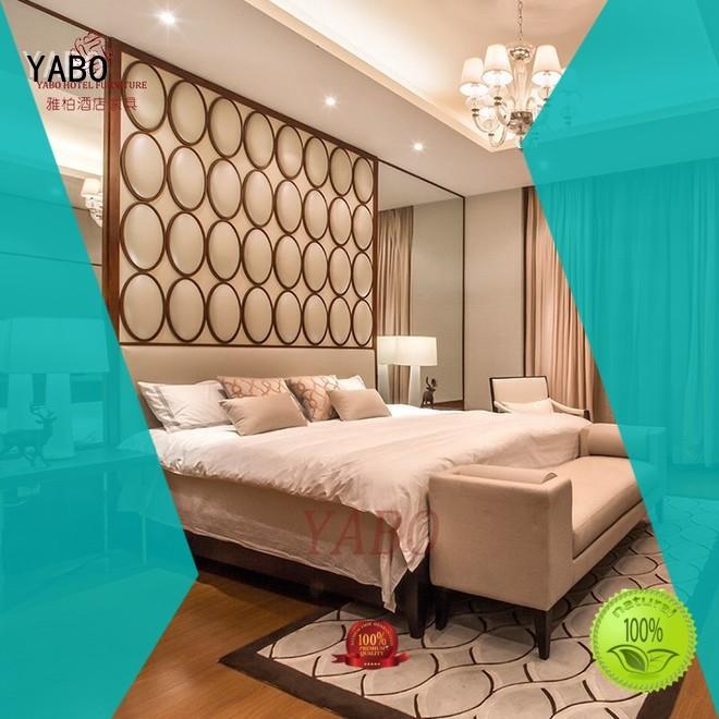 leather modern hotel bedroom furniture customization for hotel YABO