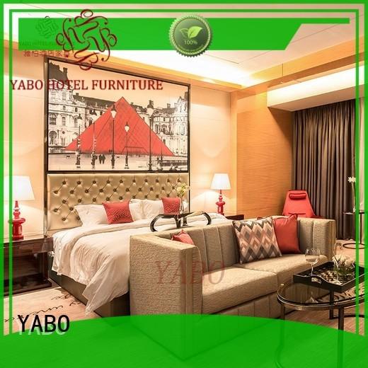 YABO popular hotel bedroom furniture wholesale customization for hotel