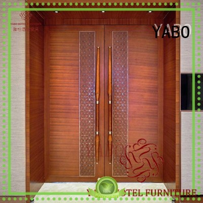 YABO wooden hotel door manufacturer brown for home
