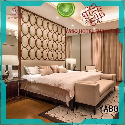 YABO leather hotel bedroom furniture products supplier for home
