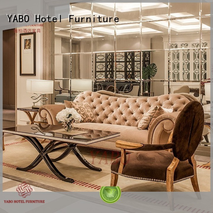 foot painted YABO Brand hotel lobby chairs factory