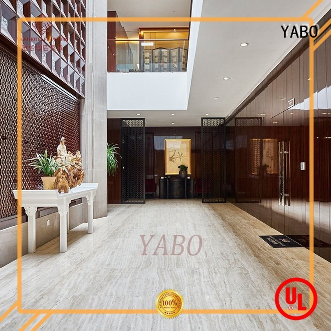 YABO fixing wood wall covering production