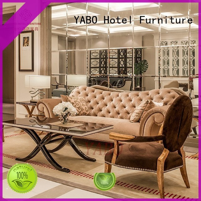 YABO flannel hotel lobby chairs series for hotel