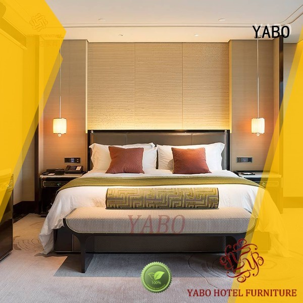 YABO high quality modern hotel bedroom furniture production for home