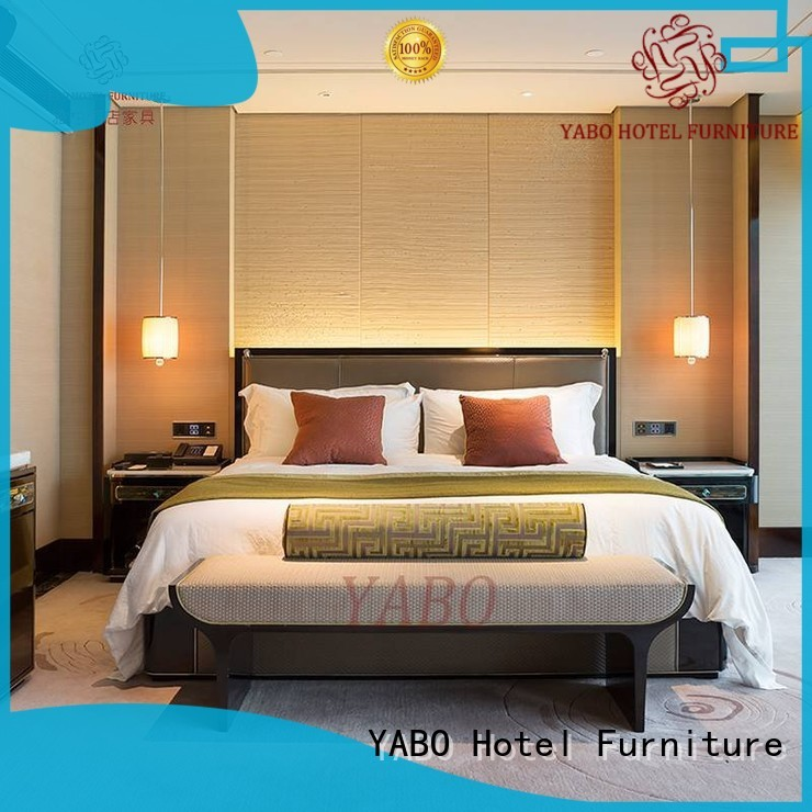 YABO high quality hotel bedroom furniture products king for hotel