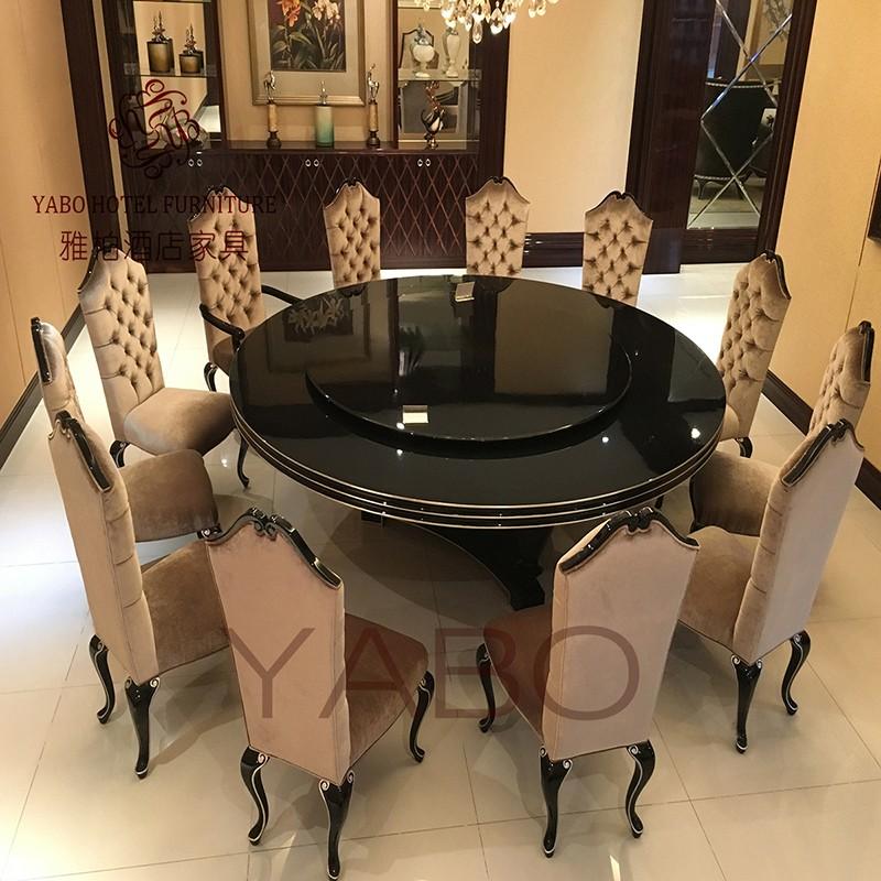 YABO-Clsasical Hotel Restaurant Furniture Round Dining Table | YABO-1