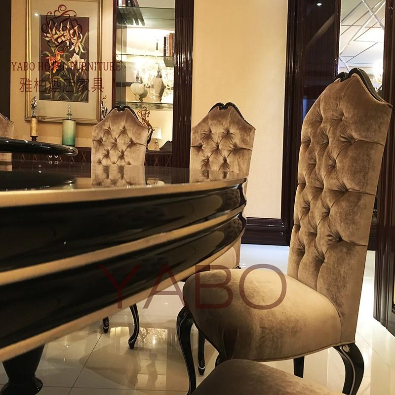 YABO-Clsasical Hotel Restaurant Furniture Round Dining Table | YABO-3