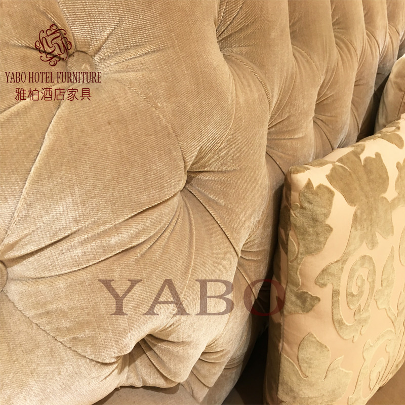 golden hotel lobby seating foot for hotel YABO-4