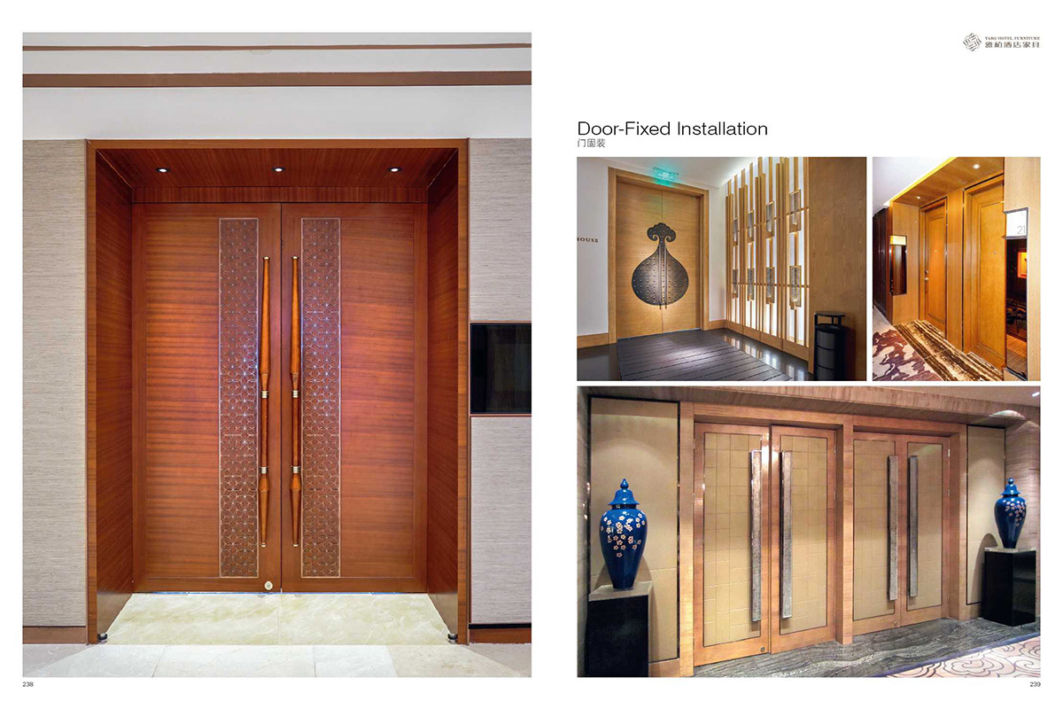 YABO clsasical hotel doors suppliers corridor for living room