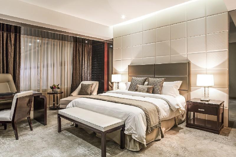 Chinese Foshan Custom Factory Fashion Modern Hotel Solid Wood Furniture SetYB-204