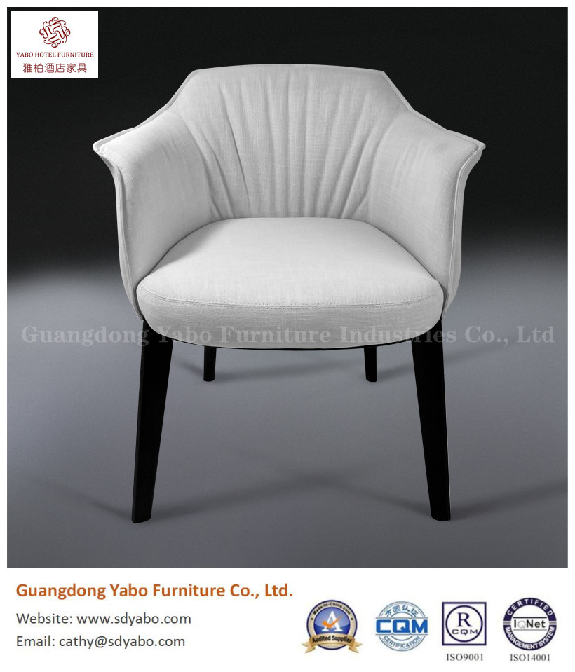 Modern solid wood fabric dining chair hotel furniture