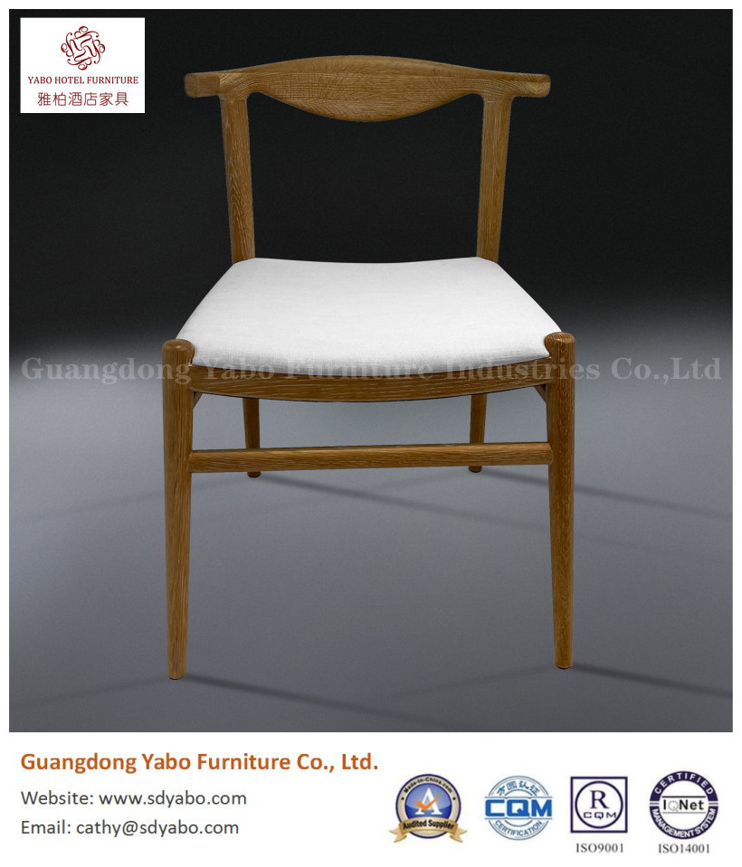Modern solid wood fabric restaurant dining chair