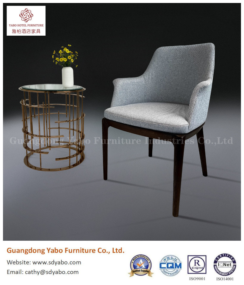 solid wood fabric upholestry hotel restaurant dining chair