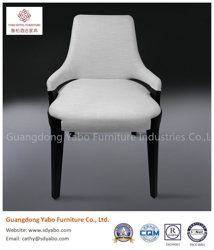 Grauce modern solid wood fabric restaurant dining chair for hotel furniture
