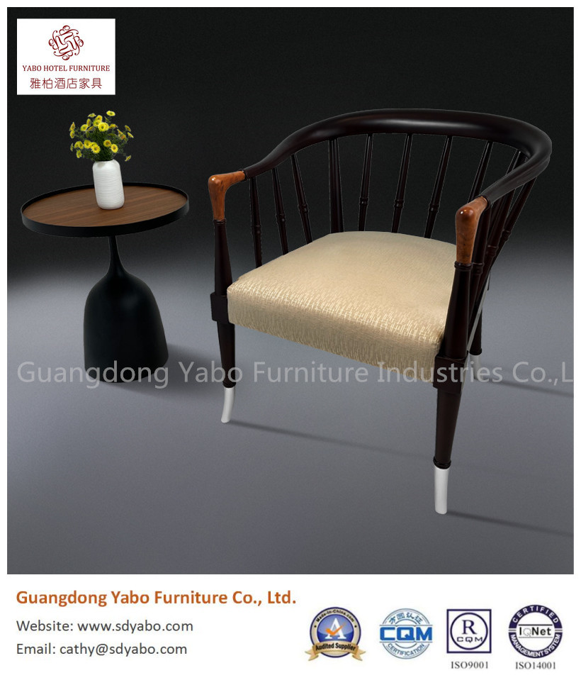 solid wood fabric chair for hotel furniture