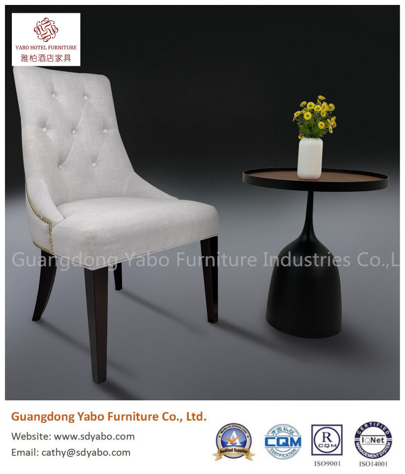 beautiful hotel lobby restaurant chair solid wood with fabric upholestry