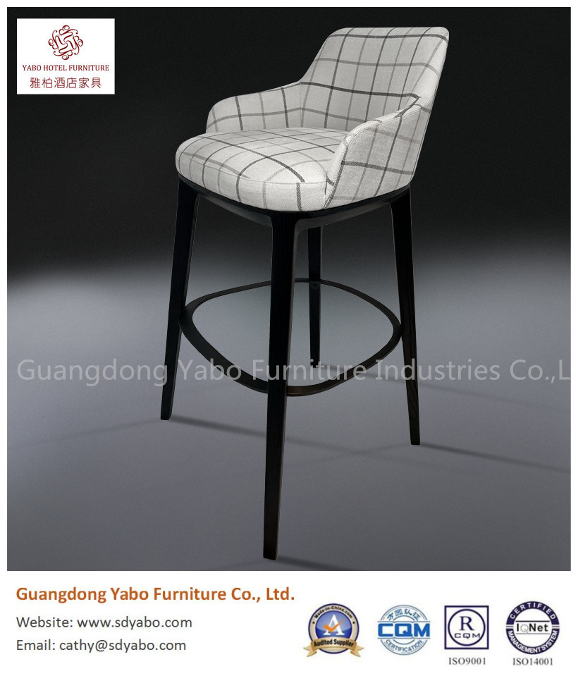 Grace solid wood metal stainless steel with fabric upholestry bar chair for restaurant dining or hotel furniture