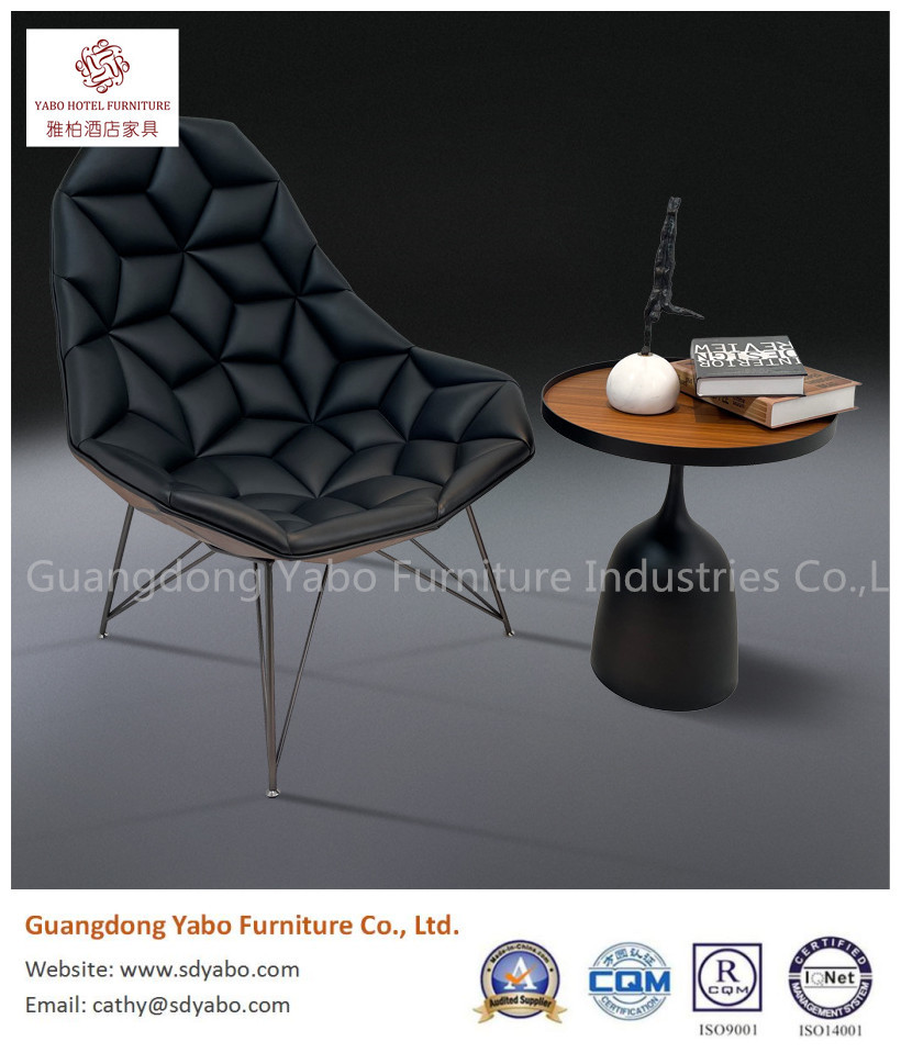 Beautiful 304# stainless steel plywood  stoving varnish leather modelling chair hotel furniture