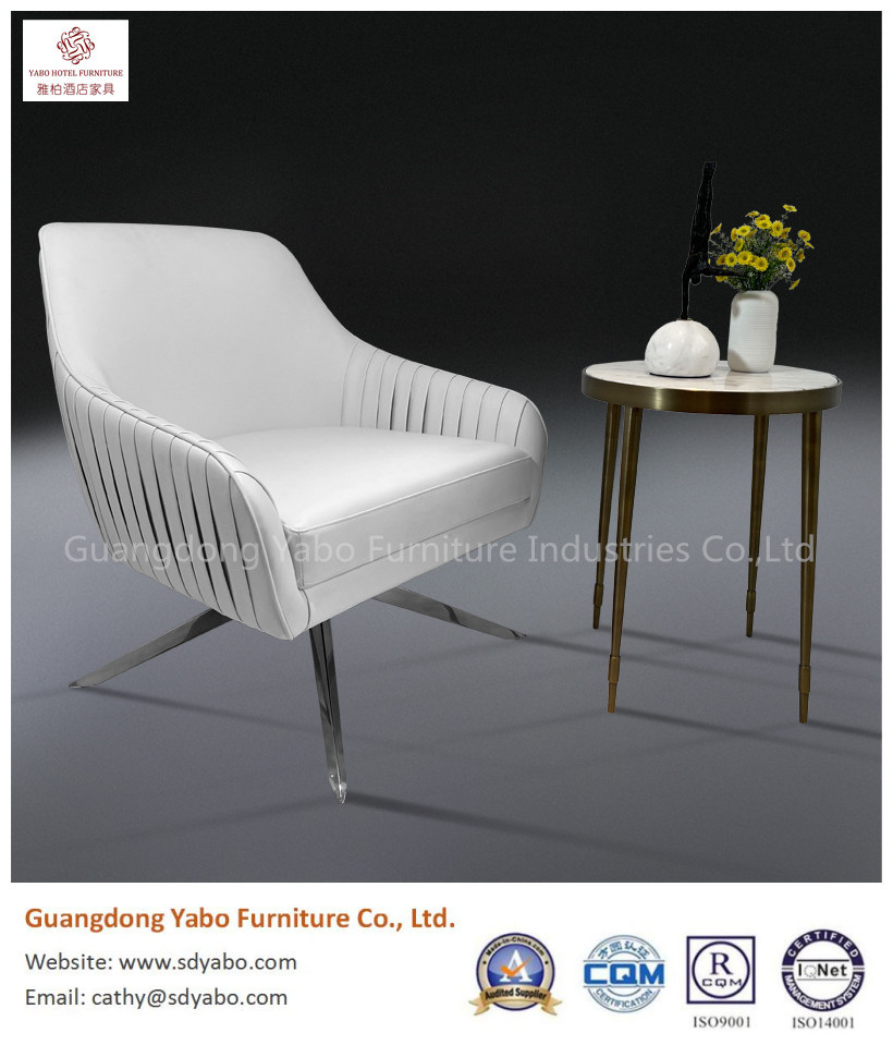 Beautiful metal leather writing chair for hotel furniture