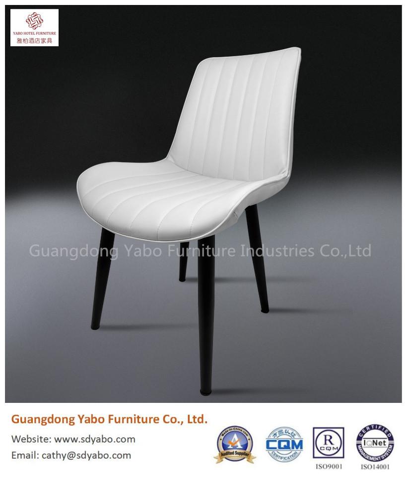 Elegant metal leather restaurant dining chair