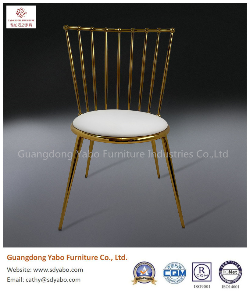 Beautiful color stainless steel leather chair for hotel lobby