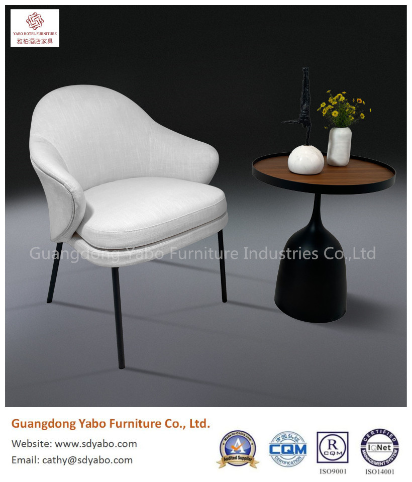grace simple metal leg fabric upholestry chair for restaurant or hotel lobby furniture