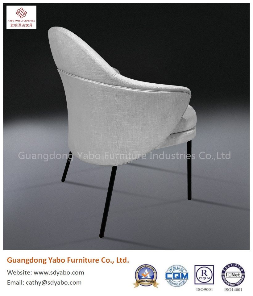 product-grace simple metal leg fabric upholestry chair for restaurant or hotel lobby furniture-YABO-