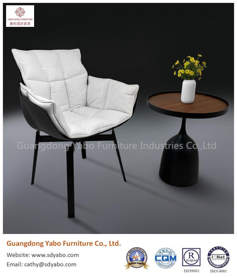 Beautiful metal fabric swivel chair hotel lobby furniture